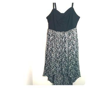Torrid black with print hi-low dress